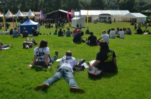 Chilling at Merthyr Rocks Festival 2012