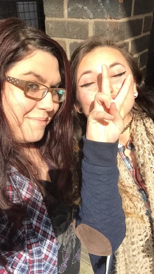 Courtney and Jazz first selfie