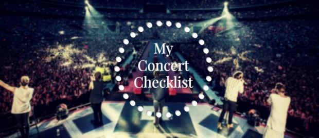 My concert checklist